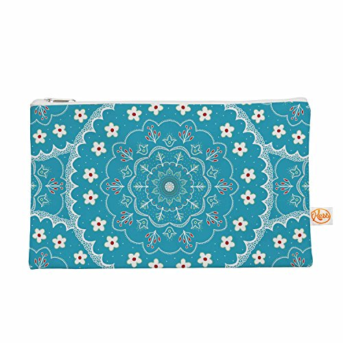 Kess eigene 12,5x 21,6cm Cristina Bianco design Blau und Weiß Mandala Alles Tasche–Blau geblümt