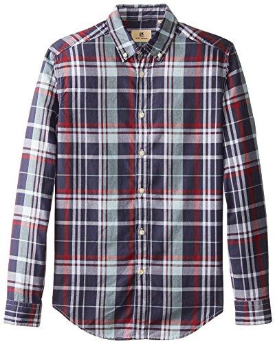 Haggar Men's Life Khaki Pattern Oxford Long-Sleeve Slim-Fit Woven Shirt