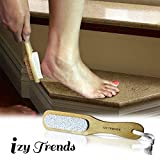 Pumice Stone - Better Grip With Handle And Less Mess - The Best Callus Remover Brush With 100% Pumice - Exfoliating Scrubber - Best Foot File Pedicure Tools