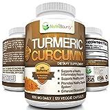 NutriBounty Turmeric Curcumin with BioPerine (Black Pepper) - 1000mg Per Serving (120 Capsules)