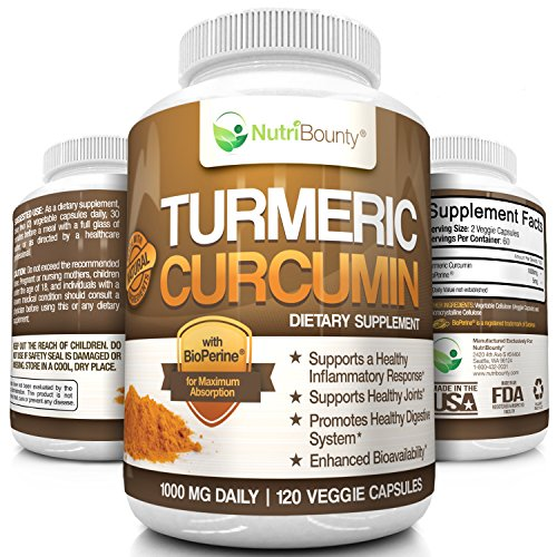 NutriBounty Turmeric Curcumin BioPerine Pepper product image