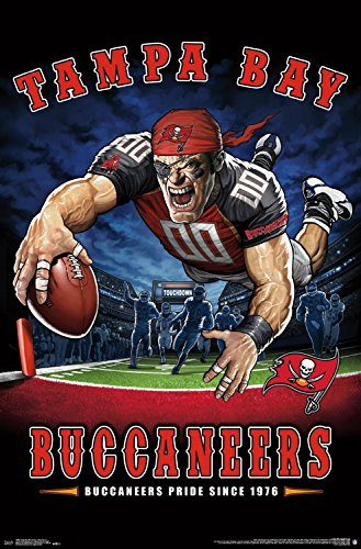 Trends International Wall Poster Tampa Bay Buccaneers End Zone, 22.375