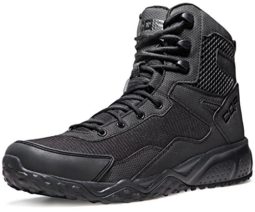 CQR CLSL CQ-BZ101-CAR_Men 11 D(M) Men's Side-Zip Combat Military Tactical Mid-Ankle Boots EDC Outdoor Assault BZ101 by CQR