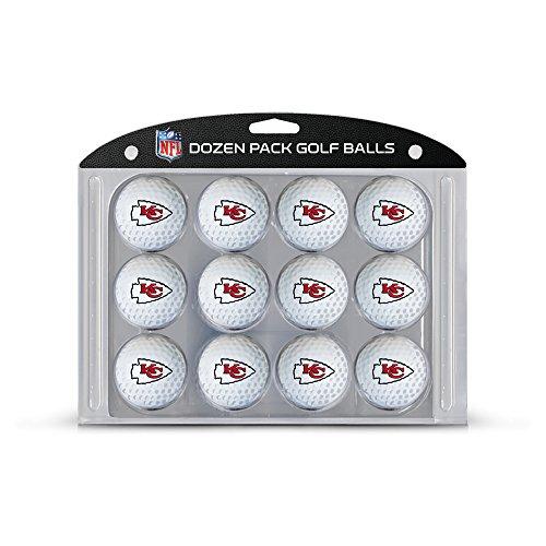 (Team Golf NFL Kansas City Chiefs Dozen Regulation Size Golf Balls, 12 Pack, Full Color Durable Team Imprint )