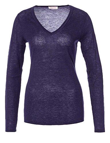 FTC Jersey 100 % cachemira Mujer lila