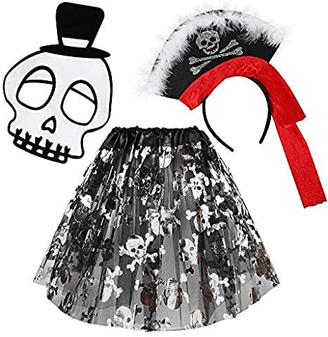 JDYW Disfraz de Pirata para Chicas con Falda Disfraces la Mascara ...