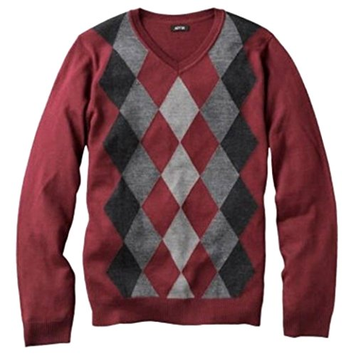 Liz Claiborne Apt 9 Mens Merino Wool Blend Argyle Sweater Big & Tall 3XB - Polo Sale Macys