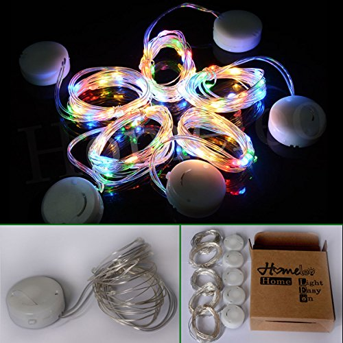 Fairy Moon Led String Lights Tiny Battery Pack : Homeleo 5 Pack Battery Operated Tiny Micro LED Satrry Light String, 6.6ft 20 LED Flexible ...