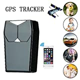 Gps Tracker,Hangang Vehicle Tracker Mini Locator Tracker Real Time Magnetic GPS Locator 50Days Long standby Big Battery GPS Vehicle Tracker GPS+ AGPS +LBS 3 Tracking Way Support APP (Android & IOS) PC Wechat Realtime Online Tracking Car Tracker Locator Tracking Tool for Children Kids Elder Pet Vehicles (CS12001-GPS)