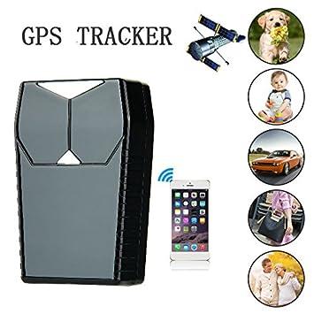 Hangang GPS Tracker Localizador para coche vehículo con libre funda para aplicaciones,3300 mAh recargable: Amazon.es: Electrónica