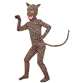 Sheface Kids Leopard Spandex Halloween Costumes Small P02