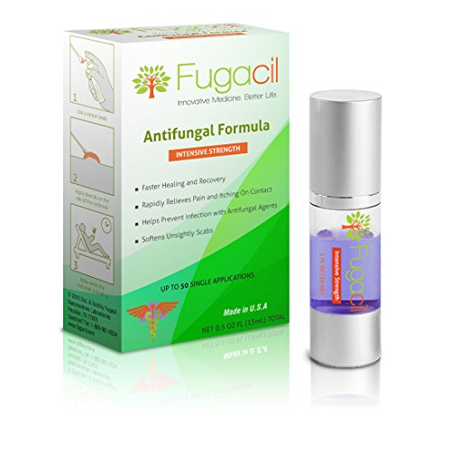 Fugacil Anti-Fungal Nanomedicine Cream with All-Natural Ingredients, including Tea Tree. For Ringworm, Athlete's Foot, Jock Itch, Toenail Fungus, Fungal Infections, 0.5oz. Foot Fungus Antifungal Cream