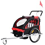 MD Group 2 in 1 Double Child Baby Bike Trailer