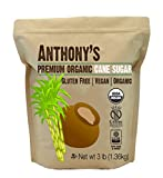 : Organic Cane Sugar (3 lbs) by Anthony's, Gluten-Free & Non-GMO