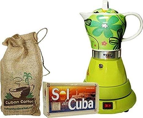 Amazon.com: Eléctrico inalámbrico Espresso cubano cafetera 4 ...