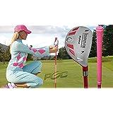 """Women's iDrive Golf Club All Ladies Pink Hybrid #7 Lady Flex Right Handed New Rescue Utility """"L"""" Flex Club"""