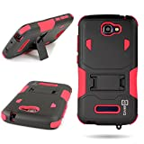 One Touch Fierce 2 (7040T) / Pop Icon (A564C) Case, CoverON® for Alcatel One Touch Fierce 2 (7040T) / Pop Icon (A564C) Hybrid Case [DuraShield Series] Heavy Duty Shockproof Protective Phone Cover with Kickstand - Red/ black