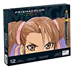 Prismacolor 1759444 Premier Double-Ended Art Markers, Fine and Chisel Tip, Manga Colors, 12-Count