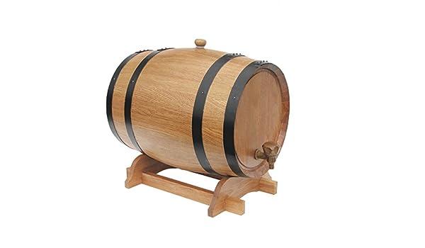 5L roble Barriles interior para barriles de madera para almacenamiento o Envejecimiento vino y bebidas: Amazon.es: Hogar