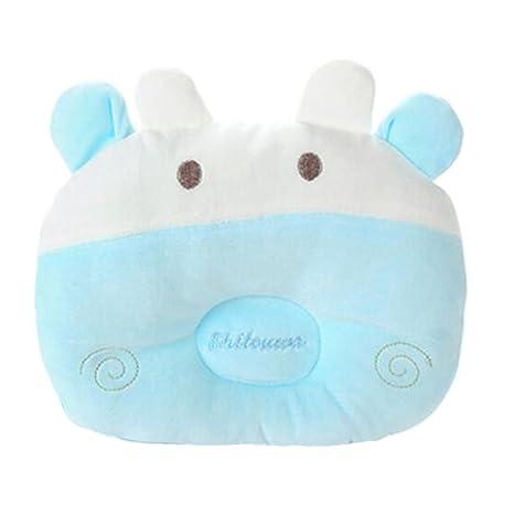 Adorable almohada bebé suave para el algodón recién nacido evitar ...