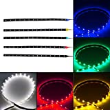 30cm 15LED 12V Car Bike auto Truck SMD LED Flexible Waterproof Lights String Strip White/Red/Yellow/Green/Blue Color