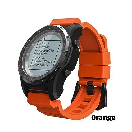 ZCPWJS Pulsera Inteligente S966 GPS Smart Watch Hombres Monitor de ...