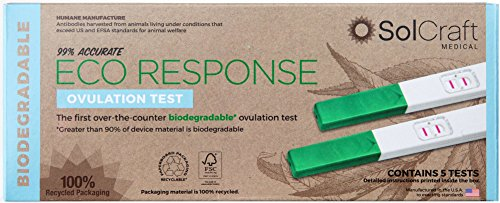 Eco Response Biodegradable Ovulation Test (5-Pack) by SolCraft Eco Response