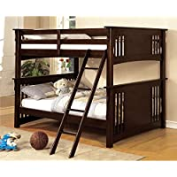 HOMES: Inside + Out ioHOMES Blumfield Bunk Bed, Full over Full, Dark Walnut