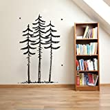 Tall Skinny Pines Pine Trees Vinyl Wall Decal Sticker Graphic Review