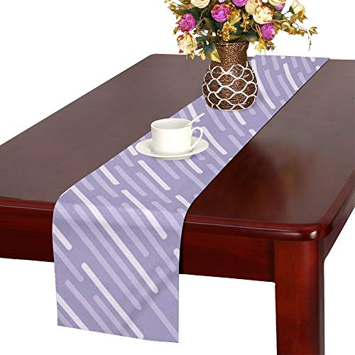 Halloween Lilac Paper Pattern Holiday Autumn Table Runner, Kitchen Dining Table Runner 16 X 72 Inch For Dinner Parties, Events, Decor
