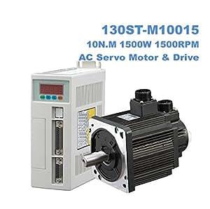 GOWE 1.5KW AC servo motor kits 10N.M 1500W 1500rpm 130ST Servo Motor 130ST-M10015 Matched Servo Driver