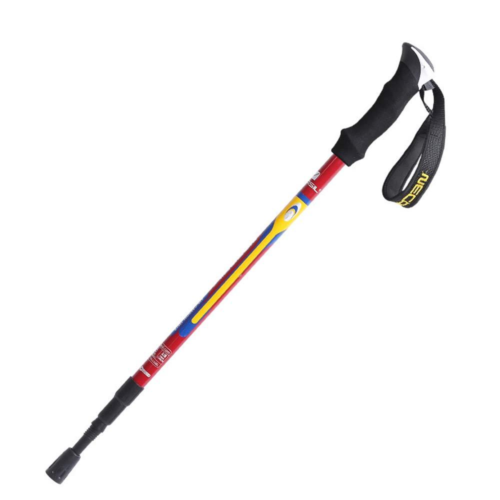 ZUKN Bast/ón de Trekking Plegable de 3 Secciones Fibra de Carbono Ultraligero Nordic Walking Stick telesc/ópico Alpenstock Interna Lock para Escalada Exterior