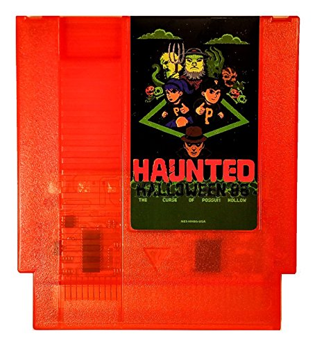 Haunted: Halloween '86 (The Curse of Possum Hollow) NES Nintendo Game Homebrew Complete in Box (Pumpkin Orange Cartridge)]()