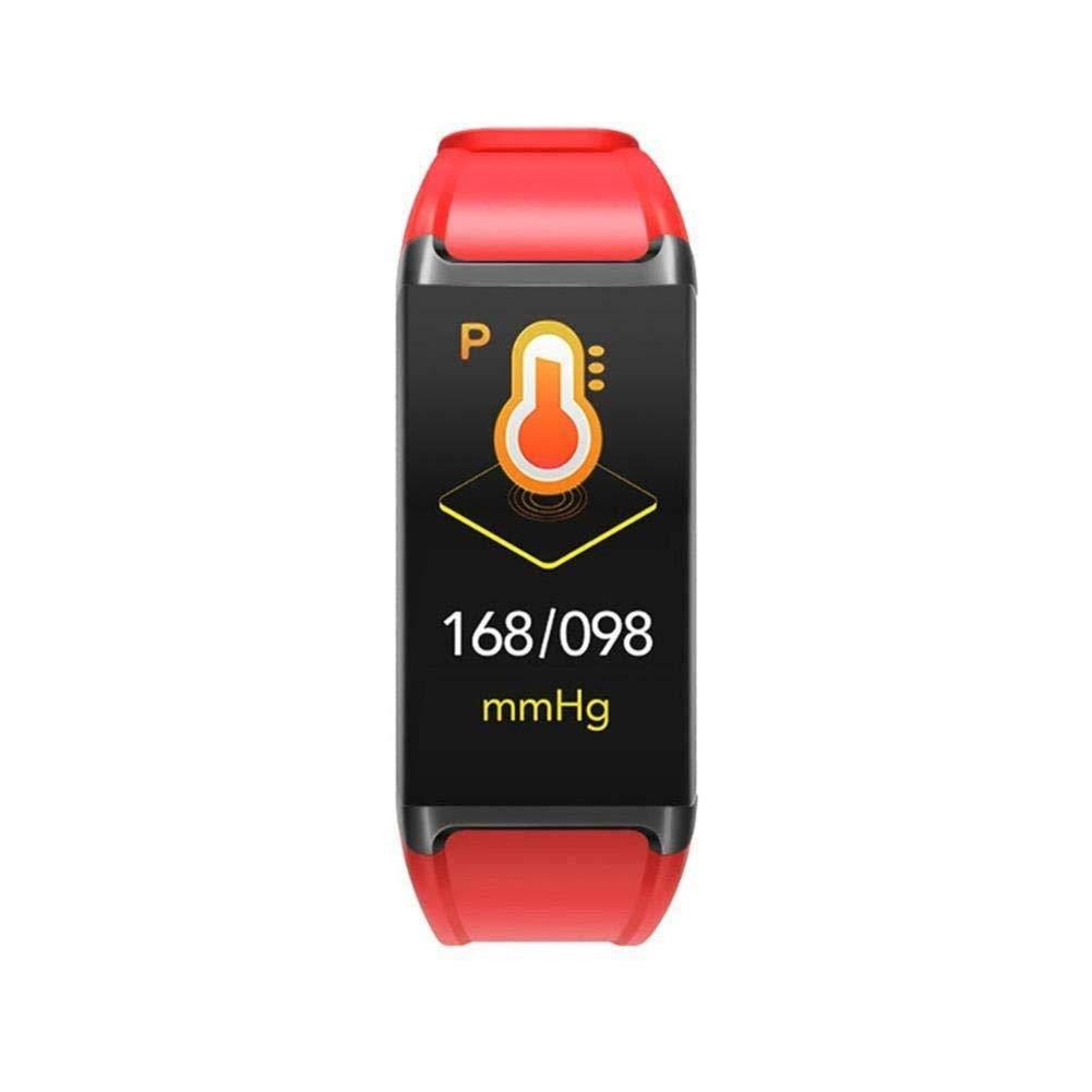 SIECPC El Monitor de Ritmo cardíaco para la presión Arterial con rastreador de Ejercicios Inteligente Recuerda a Bluetooth Pulsera Impermeable para Deportes (Color : Rojo)