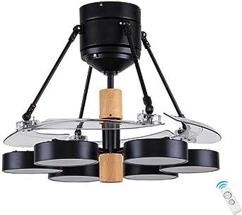 Ventilador de Techo con Luz Lámpara ABS Transparente Invisible ...