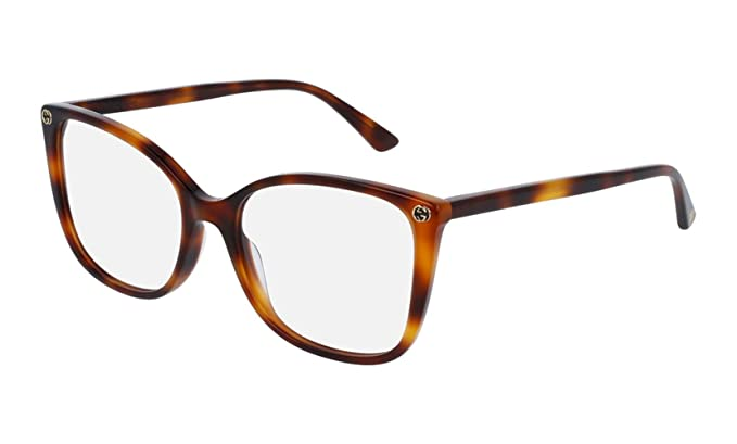 dabef0fb7bb Amazon.com  Gucci GG 0026 O- 002 002 AVANA   AVANA Eyeglasses  Clothing