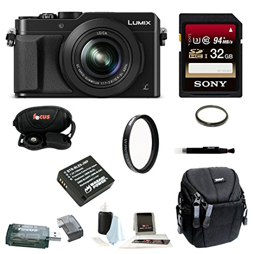 Panasonic LUMIX LX100 16.8 Megapixel Digital Camera (Black) with 32GB Accessory Bundle