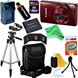 Canon PowerShot ELPH 190 IS Wi-Fi Digital Camera with 10x Zoom & HD video, Black + Battery & AC/DC Charger + 10pc 32GB Deluxe Accessory Kit with DigitalAndMore Cloth