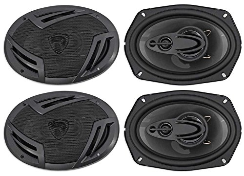 (4) Rockville RV69.4A 6x9 4-Way Car Speakers 2000 Watts/440w RMS CEA Rated