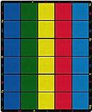 """Flagship Carpets FE126-58A Learning Grid Asiento Alfombra, Letras coloridas y números Border This Rug, Kids School, 10'9 """"x 13'2"""" Asientos 30, 129 """"Longitud, 158"""" Anchura, Azul / Verde / Amarillo / Rojo"""