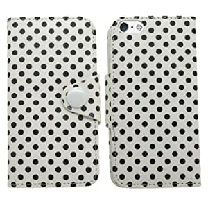 Bloutina SAMRICK - Apple iPhone 5 5G & The New iPhone 5th Generation - Polka Dots Executive Specially Designed Leather...