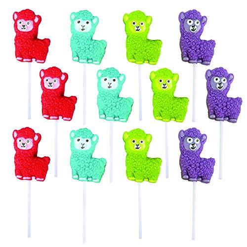 Kicko Alpaca Lollipops with Sticks - Pack of 12 2