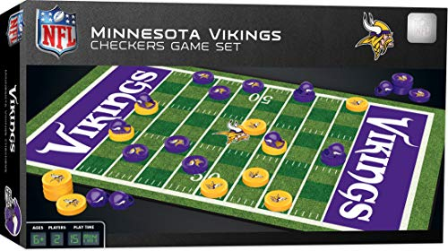 MasterPieces NFL Minnesota Vikings Checkers Game