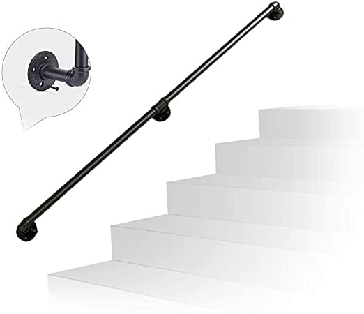 Kit de soporte de riel de barandilla de escalera 30 ~ 300 cm Tubo de hierro