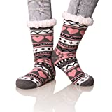 Dosoni Women's Snowflake Fleece Lining Knit Christmas Knee Highs Stockings...