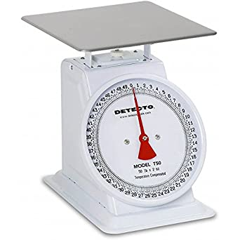Detecto T25B Top Loading Dial Scale with Bowl, 25 lb. Capacity