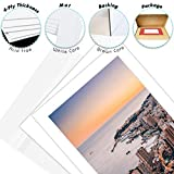 Golden State Art, Pack of 10 White Pre-Cut 5x7