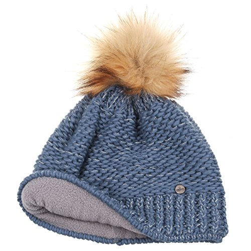 Invierno invierno Lierys Beanie Pompón Punto Lurex De By Celeste Con Otoño Mujer Gorro Sombrero wx7rHxqz