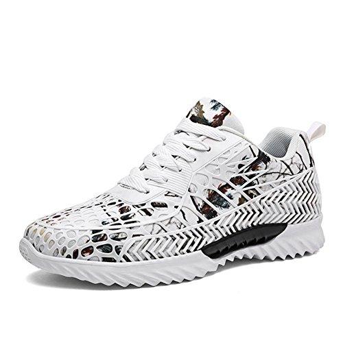 Sfit Homme Chaussures de Sport Course Running Baskets Respirantes Blanc