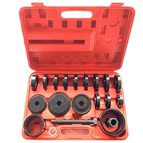 Transser - 23Pcs FWD Front Wheel Drive Bearing Removal Adapter Puller Pulley Tool Kit Case, US Stock, Shipping From NJ. (23Pcs)